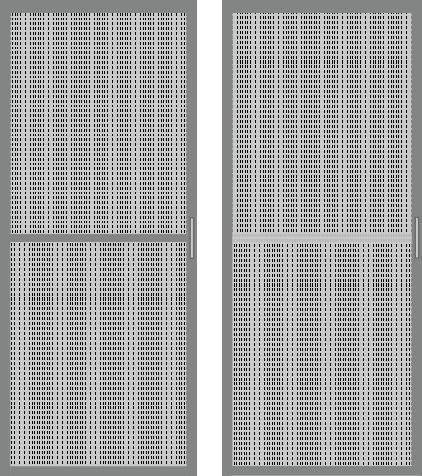 網戸が中央の桟で上下に分かれているかどうか